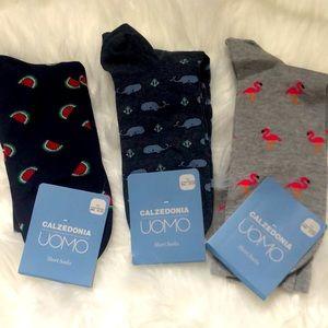 NWT Bundle 3 Pairs Men's Italian Made Novelty Sock
